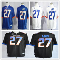 Wholesale Cheap Men Boise State College Jay Ajayi Jersey Team Color Black Blue White Football Jerseys Embroidery Logos