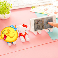 animation desktop - Fashion Plastic Crafts Cute D Animation Model Shelf Desktop Cartoon Mobile Phone Holder Cell Phone Holder Stands
