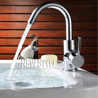 bathroom sink fittings - Modern Design Brass Chrome Single Handle Bathroom Sink Faucets Mixer Basin Faucet Hot And Cold Water Tap