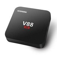 1GB 8GB Black V88 1G+8G Rockchip3229 Quad Core 4K Android5.1 TV Box XBMC Smart Media Player support Kodi Wifi HDMI WIFI Router