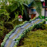 Wholesale Micro Landscape Resin Craft Highway Small road miniature garden ornaments Miniature Dollhouse Fairy Garden Large road model