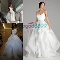 A-Line alvina valenta dress - Alvina Valenta Couture A line Wedding Dresses Sparkly Beaded Applique Ruffles Spaghetti Beach Country Bridal Wedding Gowns