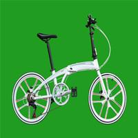 aerospace brakes - 20 Folding Bike Speed inch shaped aerospace aluminum Double Disc Brakes Folding Bicycle X4B