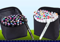 Wholesale Newest TOUCH5 Set Double Headed Art Mark colors touch five Marker Pen with bag colorful Drawing pens brush Christmas gifts