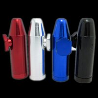 aluminum rolls - Plastic bullet snuff tube snorter smoking pipe hookah grinder gift rolling machine paper glass bong vaporizer bullets aluminum metal snuff