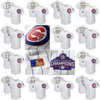Wholesale Mens Women Youth Chicago Cubs Jersey Kris Bryant Anthony Rizzo Javier Baez Ben Zobrist White Gold Program Baseball Jersey