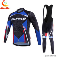 Wholesale 2016 MALCIKLO Winter Thermal Fleece Pro Team Long Sleeve Cycling Jersey Ropa Maillot Invierno Ciclismo Bicycle MTB Bike Clothing