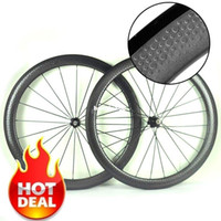Wholesale road bike Golf surface dimpled C clincher tubular wheelset mm height mm width carbon wheels