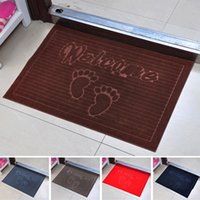 100% Polypropylene bath room accessories - Welcome Foot design Soft bathroom carpet Non Slip Dust Doormat Floor Rug bath mat living room bathroom accessories