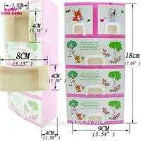baby wardrobe furniture - 1 Set Doll Accessories Baby Toys New Printing Closet Wardrobe Shoebox For Barbie Doll Clothes Girls Princess Bedroom Furniture A