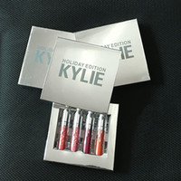 Wholesale kylie christmas kit set New Kylie Jenner holiday edition collection lip kit Gold Metal Matte lipstick