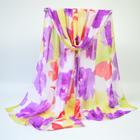 Wholesale Chiffon scarf printed beach towel cm cm with a long and thin gauze towel for spring and autumn style trade scarf
