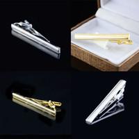 Wholesale Pop Men s Gold Silver Metal Necktie Tie Bar Clasp Formal Dress Tie Clip