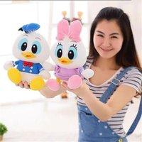 disney plush - Kawaii Disney Stuffed Animals Plush Toys Mickey Donald Duck Daisy Cartoon Dolls Toys with Foam particle Filling Christmas Birthday Gifts