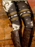 Wholesale Women s Deer Printed Slim Narrow Leg High Waist Long Pants Leggings