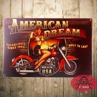 al por mayor muchacha americana botones-Contacto Pin de la motocicleta del sueño americano del T-r ¡Gran idea para un regalo para el fanático de la motocicleta!