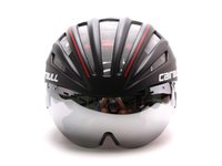 Wholesale New Creative Bike Helmet With Goggle Integrated Molding MTB Cycling Helmet With Glasses Shield Goggle Bicycle Helmet