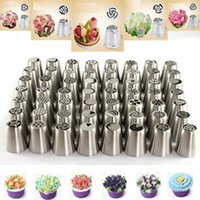 Wholesale 56 Russian Flower Icing Piping Nozzles Cake Decoration Tips Baking Tools kit Icing Piping Nozzles ZH01534