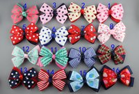 Hair Sticks baby hair accessories uk - 50pcs UK style Dot Grosgrain Ribbon Hair Bows WITHOUT Clips DIY Baby Girls Hair Accessories Boutique HairBows