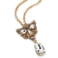 al por mayor embed cristal-Nueva moda de diseño elegante chispear Embed Crystal Leopard Head Aleación Choker Colgantes Collares para las mujeres