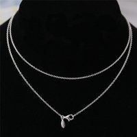 Wholesale Stunning Necklace Solid Sterling Silver Fashion Women Jewelry European Style For DIY Charm Bead JSDN001