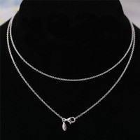 Wholesale Stunning Necklace With Logoale Solid Sterling Silver Fashion Women Jewelry European Style For DIY Charm Bead JSDN001