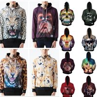 best winter wear - Best Quality Fall New fashion Men Women Science D Printed Jackets cat tiger deer leopard skull snake lion print d hoodies novelty wear