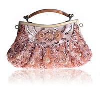 Wholesale Shiny Vintage Style Evening Bag High Quality Embroidery Women Clutch Bag Handbag