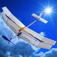 Juguetes educativos de la ciencia del muchacho de los juguetes del juguete de la diversión del aeroplano del avión del vuelo de la goma del planeador de Wholesale-DIY