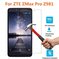 Wholesale For ZTE ZMax Pro Z981 Tempered Glass H D HD Ultra Thin Clear Screen Protector Explosion Shock Proof Glass Film With Packaging