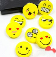 Wholesale Cartoon Smile Face Rubber Eraser Art School Supplies Office Stationery Novelty Pencil Tool Set Kids