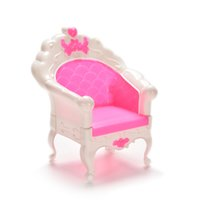 cheap lovely mini furniture pink white patchwork soft sofa couch for barbie doll house barbie dollhouse furniture cheap