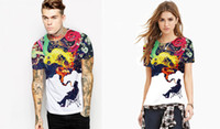 Cheap Women printing couples dress Best Crew Neck Short rock youth people T-shirt
