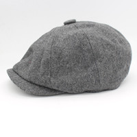 Beret beckham hat - David Beckham Same Design Male Beret Fashion Gorras Planas Solid Boina Wool Beret For Men Hats Casual Octagonal Cap HT51095