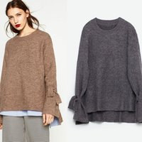Wholesale sweater cuff band women s clothing in Europe and the united fan knit the new loose comfortable