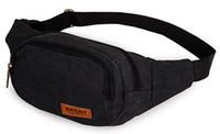 Wholesale Men Good Quality Canvas Bag Waist Packs For Men Casual Waist Bag Out Mini Waist Package Casual Mini Men Messenger Bags