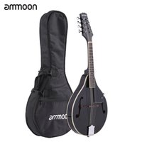 Wholesale ammoon A Style Mandolin Strings High Quality Basswood Body Rosewood Bridge Fingerboard with Gig Bag