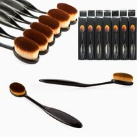 Wholesale Cosmetic Oval Brush Beverly Hills Oval Makeup Brush Foundation Brushes BB Cream Powder Brush Tooth Shape Makeup Tool