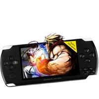 Consola handheld del juego del envío libre 4.3 jugador de la pantalla MP4 del jugador mp4 de la pantalla de la pulgada ayuda verdadera 8GB para el juego del psp, cámara, vídeo, e-libro