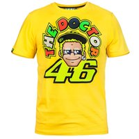Wholesale 2017 New VR46 the doctor MOTO GP motorcycle motorcross T shirt for valentino rossi shirt VR46 EURO size S XL Cotton T shirts