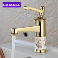 Centerset antique porcelain basin - Hot sale Porcelain Faucet Retro Mixer Tap fashion Antique faucet copper hot and cold basin tap