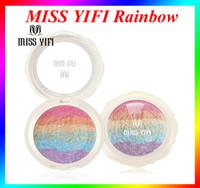 Wholesale Miss yifi Rainbow Highlighter Makeup Blush Palette Powder Cosmetic Blush Shimmer Iluminador Maquiagem Contour VS Kylie shadow