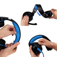 Wholesale G2000 Computer Gaming Headset Notebook Desk Headset Headset Subwoofer Microphone with Microphone high quality fidelity earphone headphones