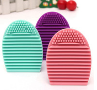 Wholesale Silicone Makeup Brushegg Cleaning Washing Tools Cosmetics Makeup Brushes Scrubber Board Washing Cosmetic Brush Cleaner Tool