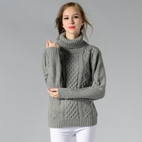 Wholesale Europe and the United States autumn winter new slim turtleneck solid long sleeved casual knitted shirt woman