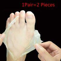 Wholesale 1 Pair Remove Dead Skin Foot Mask Baby Foot Bamboo Vinegar Peeling Pedicure Socks Cuticles For Heel Exfoliation Feet Care