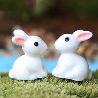 antique animal figurines - NEW X Mini Rabbit Garden Ornament Figurine Decor Plant Pot Fairy Garden Style