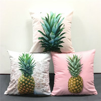 Nonwoven baby couches - Summer Tropical Pineapple Ananas Comosus Cushion Covers Decorative Pillow Cover Baby Boys Girls Favor Soft Pillow Case For Car Sofa Couch