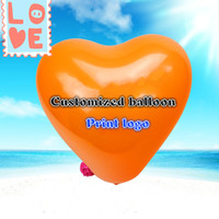decorate balloon balloons express - 1000pcs inch customized hearts advertise balloons printing with logo for party decoration Festival party supplies by express