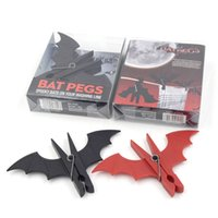 Wholesale 2 SET Bat Pegs Suck UK Home decor Craft Clothes Pegs Paper Photo Hanging Clamp Spring Clips For Message Cards